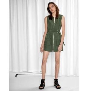 &Other Stories Zip Dress Size 4